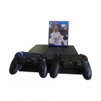 Sony Playstation 4 500 GB schwarz inkl. 2 Wireless Controller und Fifa 18 gebraucht