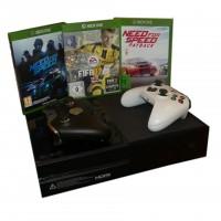 Microsoft Xbox One 500GB Schwarz mit 1x elite Controller, 1x Xbox One Controller