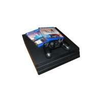 Sony Playstation 4 Pro PS4 1TB 2 Spiele, 1x kabelloser Controller, CUH7016B, schwarz