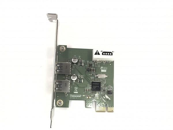 Transcend USB 3.0 Card, 2x USB 3.0, PCIe 2.0 x1 (TS-PDU3) gebraucht