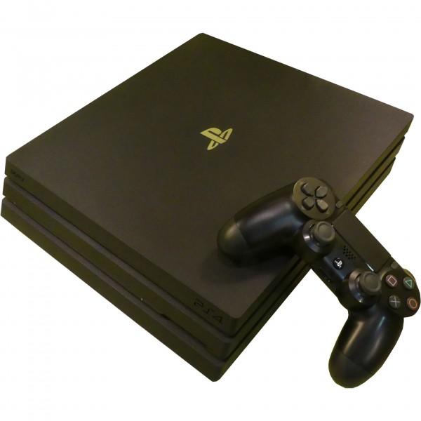 Sony Playstation 4 Pro 1TB 1x Dualshock 4 Controller CUH-7116B black gebraucht Artikel