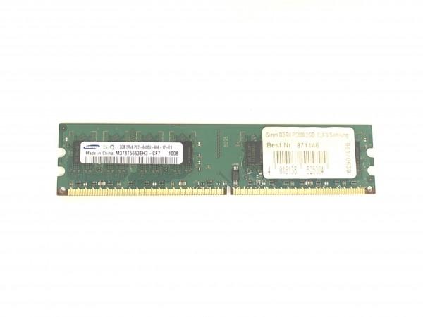 Samsung 2GB PC2-6400U-666-12-E3 DDR2 800MHz M378T5663EH3-CF7 Speicher