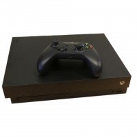 Microsoft Xbox One X 500GB Schwarz Konsole mit 1x Wireless Xbox One Controller gebraucht