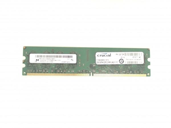 Crucial 2GB PC2-6400U-666-12-E0 DDR2 800MHz MT16HTF25664AZ-800H1 Speicher