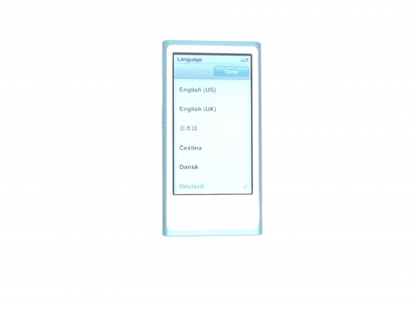 iPod nano (7. Generation) blau + Apple EarPods gebraucht