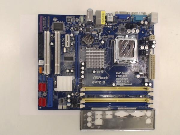 ASRock Mainboard Sockel 775 DDR2 DDR3 G41C-S