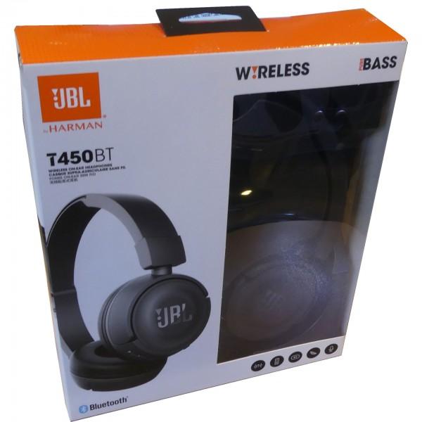 JBL T450BT JBLT450BTBLK Bluetooth Kopfhörer in Schwarz Kabellose Ohrhörer gebraucht