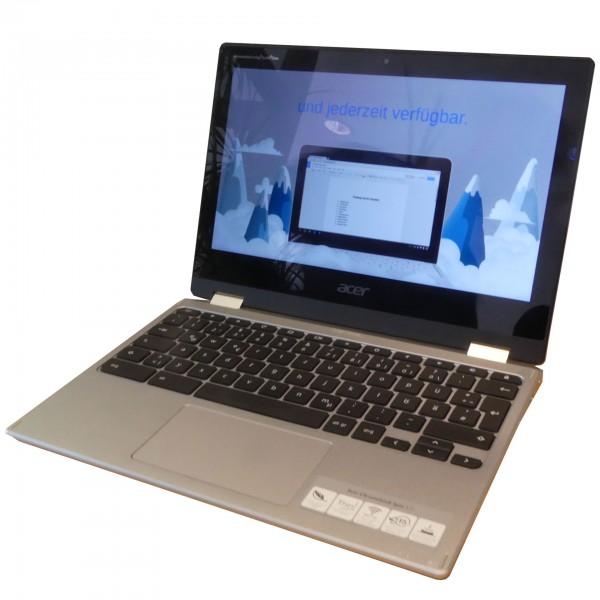 "Acer Chromebook 11,6"" Touchscreen, 4 GB RAM, 64 GB eMMC, Mali-G72 MP3 GPU, Silber"