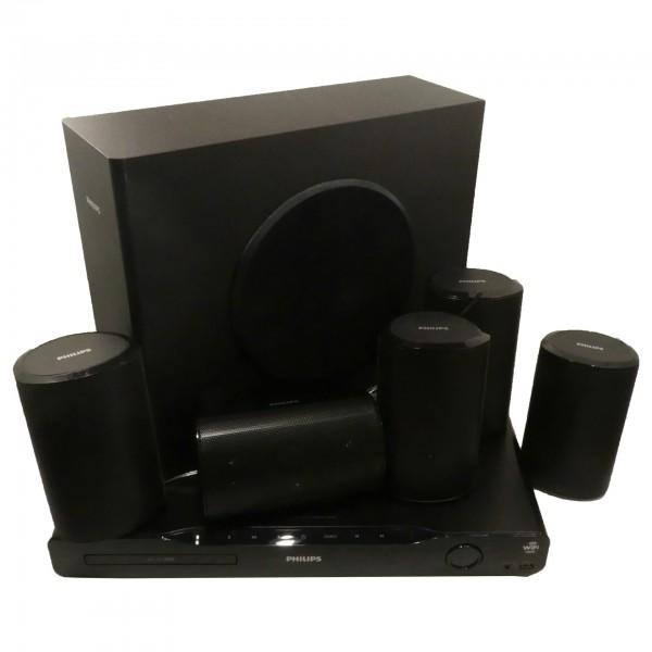 Philips 5.1 Entertainment-System HTS4562/12, 3D Blu-ray 1000W, 150Hz – 20kHz, gebraucht Artikel