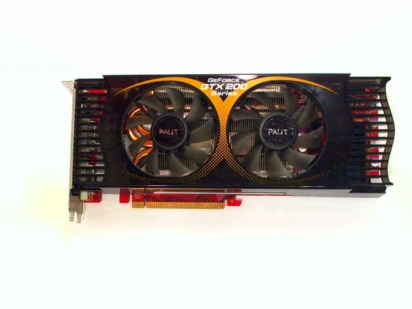 GeForce GTX 200 65nm, 896MB DDR3, 2x DVI, S-Video, PCIe 2.0, gebraucht