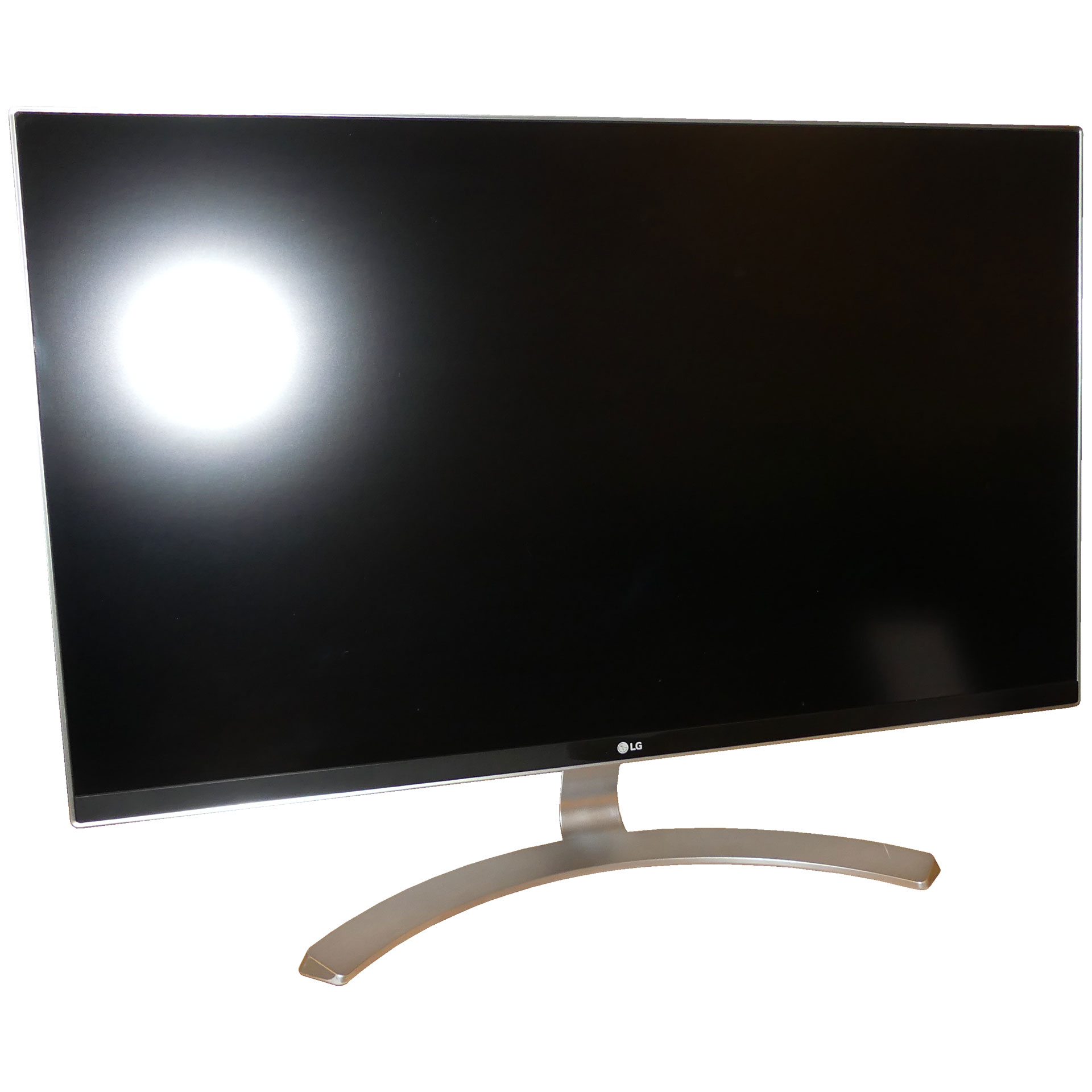 lg 27ud68 w led monitor 27 3840x2160 uhd ah ips silber wei gebraucht fernseher tv hifi. Black Bedroom Furniture Sets. Home Design Ideas