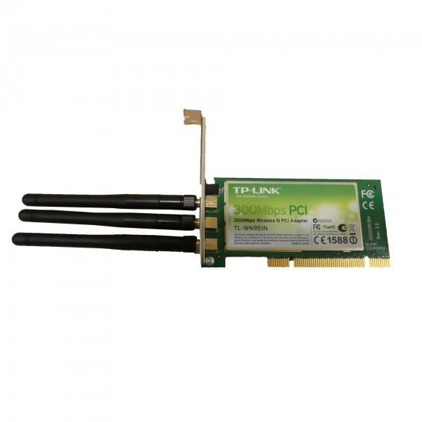 TP-LINK 300Mbps-WLAN-N-PCI-Adapter TL-WN951N gebraucht Artikel