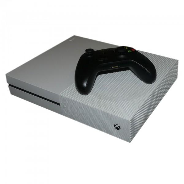 Xbox One S 500GB 1681 Weiß , mit kabellosen Controller (schwarz) Konsole gebraucht Artikel