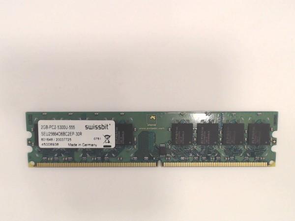 2GB Swissbit DDR2-667 RAM PC2-5300U CL5 SEU25664D6BC2EP-30R