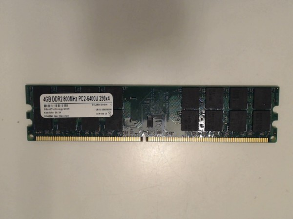 SiQuell D2L0800-D2G-MJ3X2-FBA, 4 GB, DDR2 SDRAM, PC2 6400U