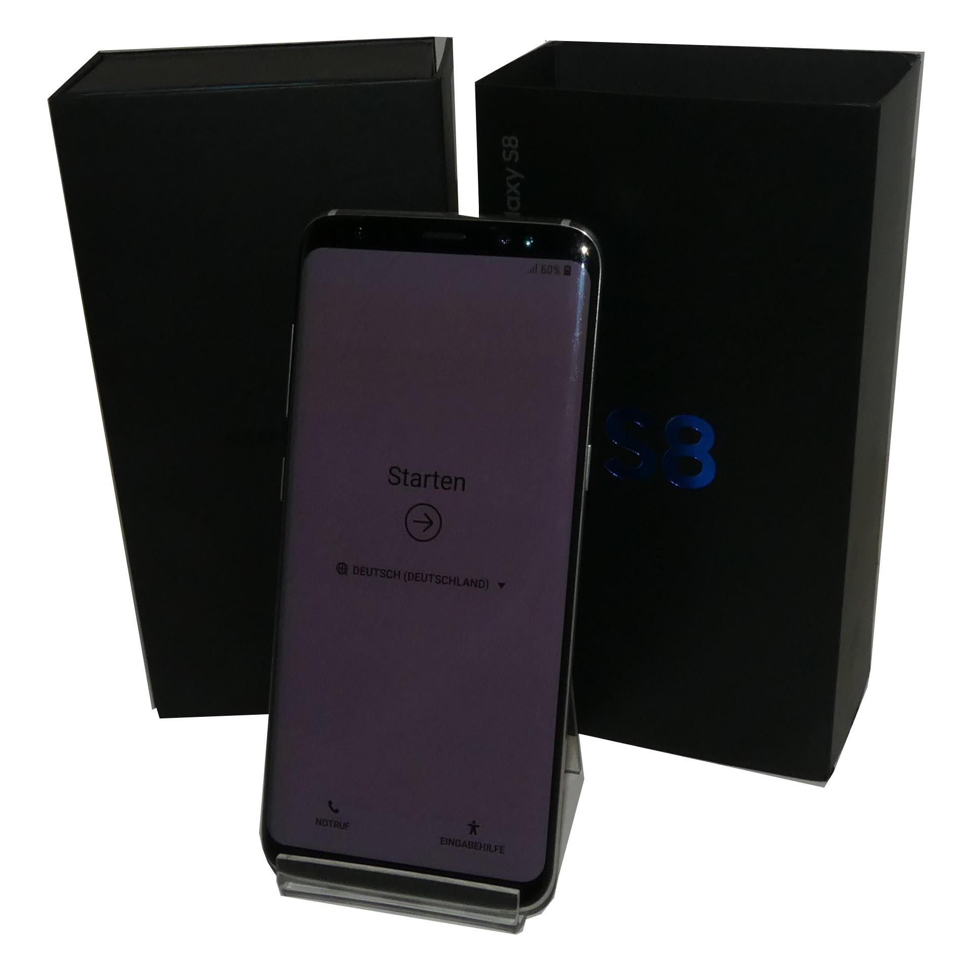 samsung galaxy s8 g950f schwarz 64gb smartphone gebraucht artikel smartphone handy an und. Black Bedroom Furniture Sets. Home Design Ideas