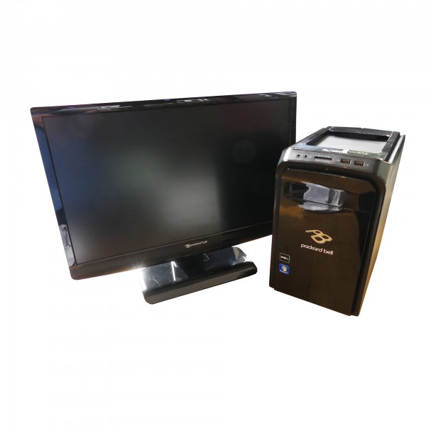 "PC Bundle AMD E-300 2GB 500GB Windows 7 Home Premium Monitor 54,6cm (21,5"") gebraucht Artikel"