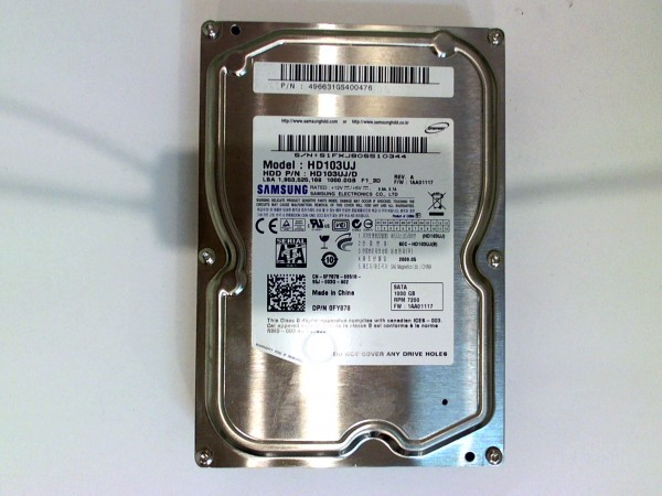 "1TB Samsung Spinpoint F1 HD103UJ 8,89cm (3,5"") SATA Festplatte STM380215AS"