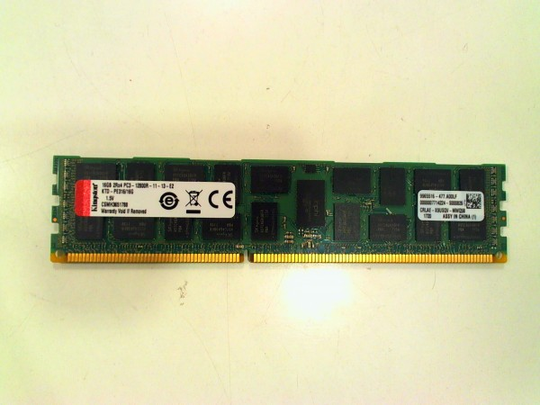 Kingston KTD-PE316/16G 16GB DDR3, 1600MHz, PC3-12800R ECC Server Speicher