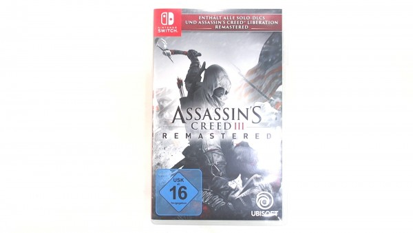 Assassins Creed III Remastered Nintendo Switch Spiel gebrauchter Artikel